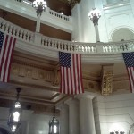 Flags in the State Capitol Rotunda