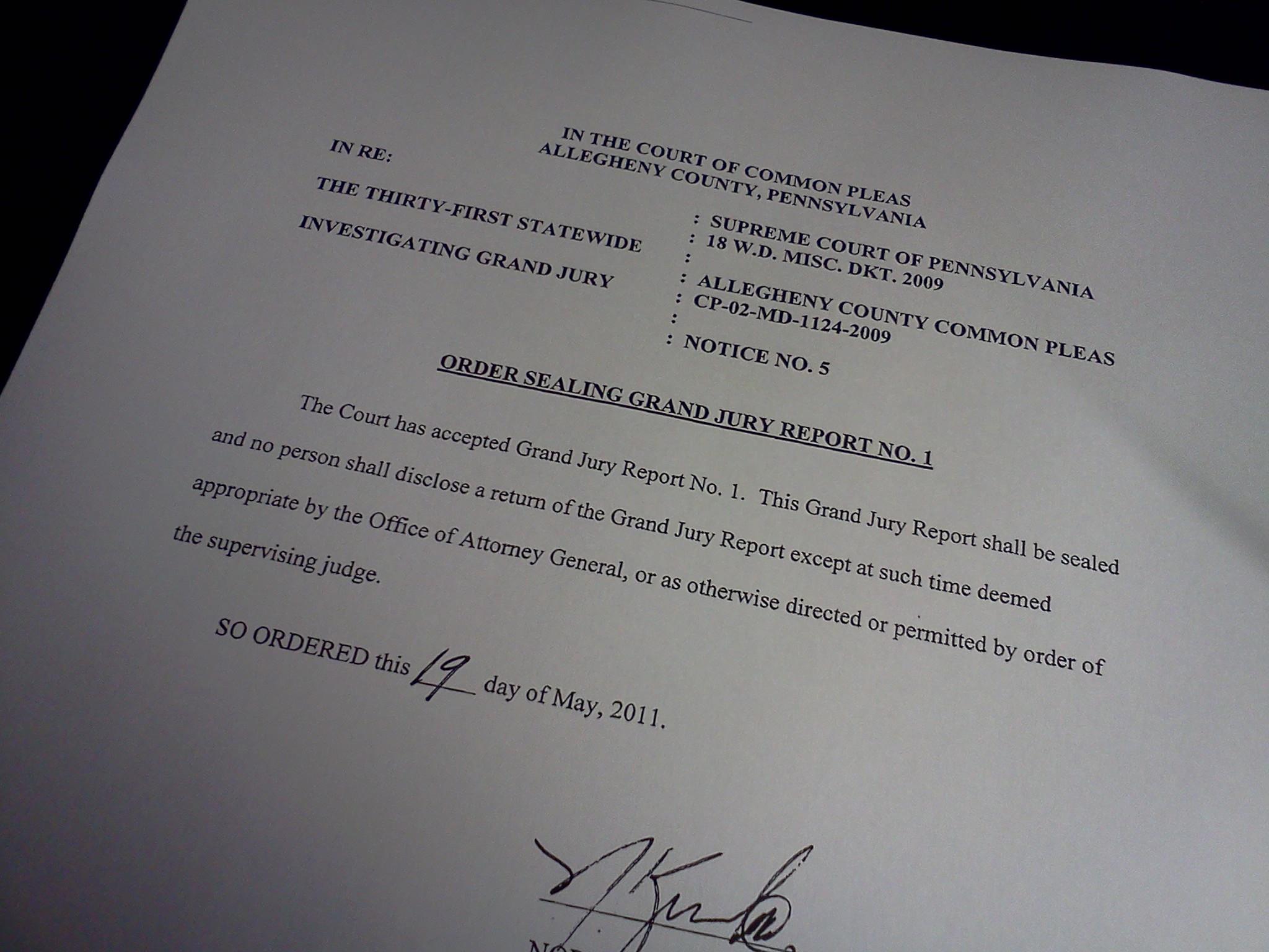 Grand Jury Report