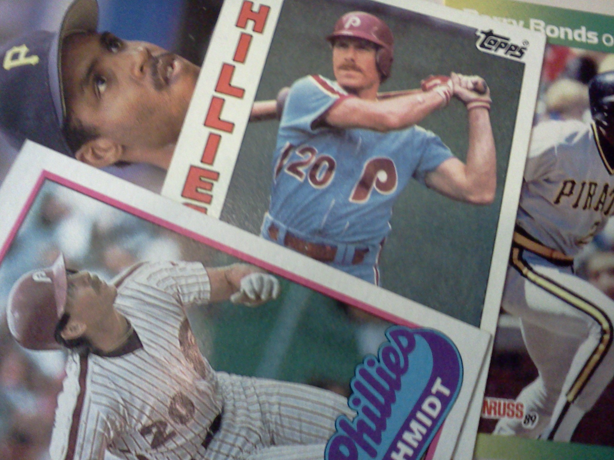 Mike Schmidt and Barry Bonds Baseball Cards