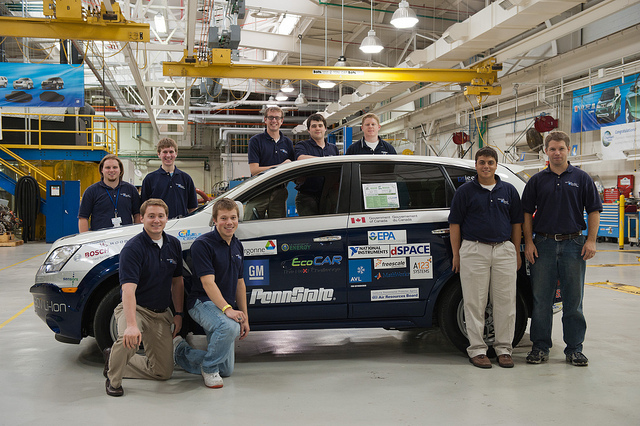 *Photo of the Penn State Team was provided by EcoCAR.