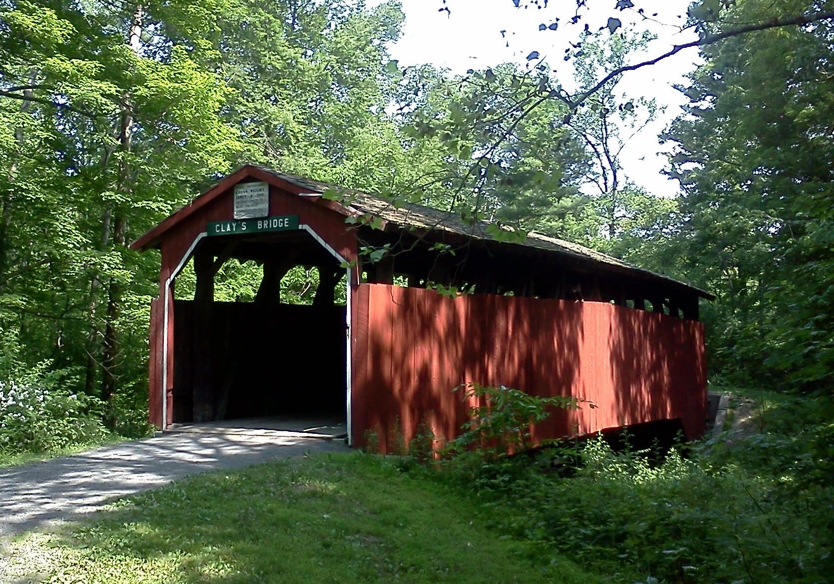 Clay's Bridge can be found nearl Holman Lake in Little Buffalo State Park, near Newport.