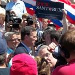 Santorum Greets Supporters in Somerset Co.